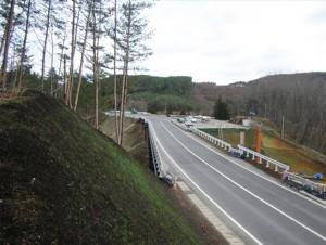宇津目地区道路改良工事