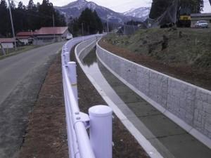 和賀中央農業水利事業 上堰幹線用水路(その1)工事