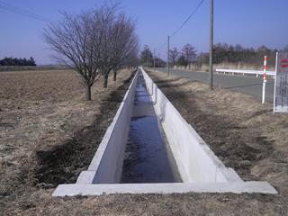 岩手山麓(一期)農業水利事業北部主幹線用水路(その5)工事