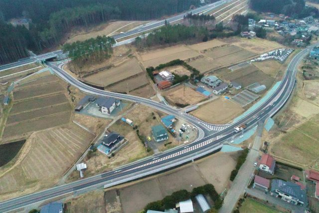 洋野地区道路改良工事